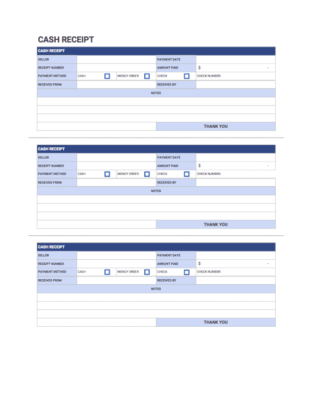Cash Receipt Template | Free download from Invoice Simple