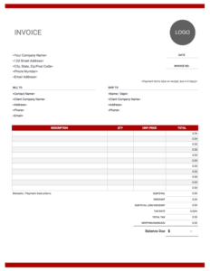 Invoice template | Free and fully customizable online templates