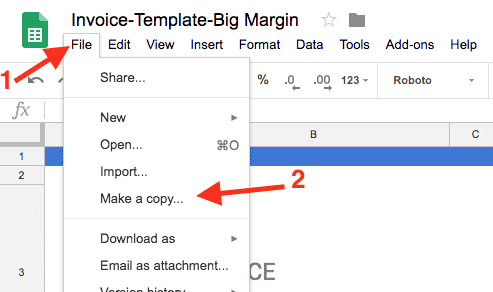 Google Docs Invoice Template Docs Sheets Invoice Simple