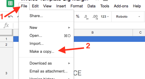 how to use google doc template